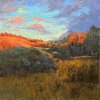 """Evening Glow—Fish Ranch"" 20x20"" Oil ($2400)"