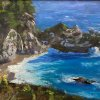 """Morning light on McWay Falls"" 8x10"" oil on Board"